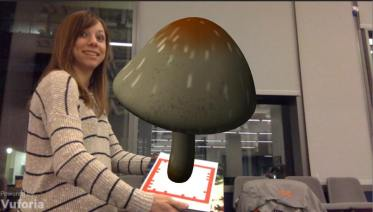 The beginnings of Musical Mushrooms at the SF VR Hackathon.
